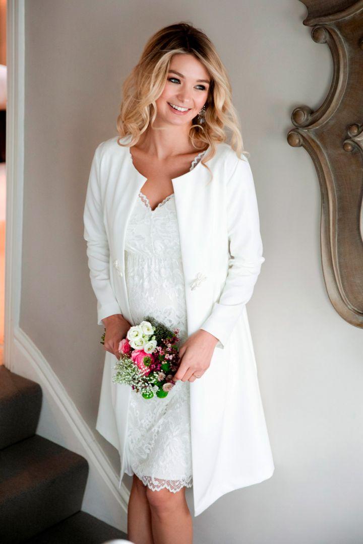 Maternity wedding coat, plus size