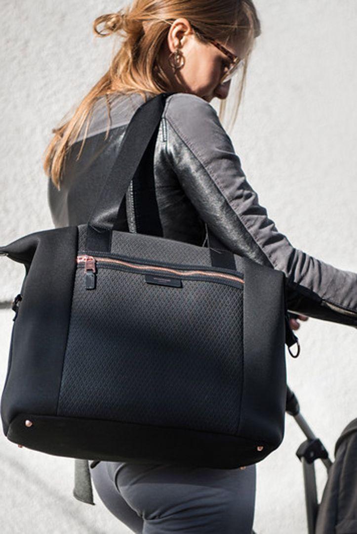 Storksak Stevie Luxe nappy bag, black