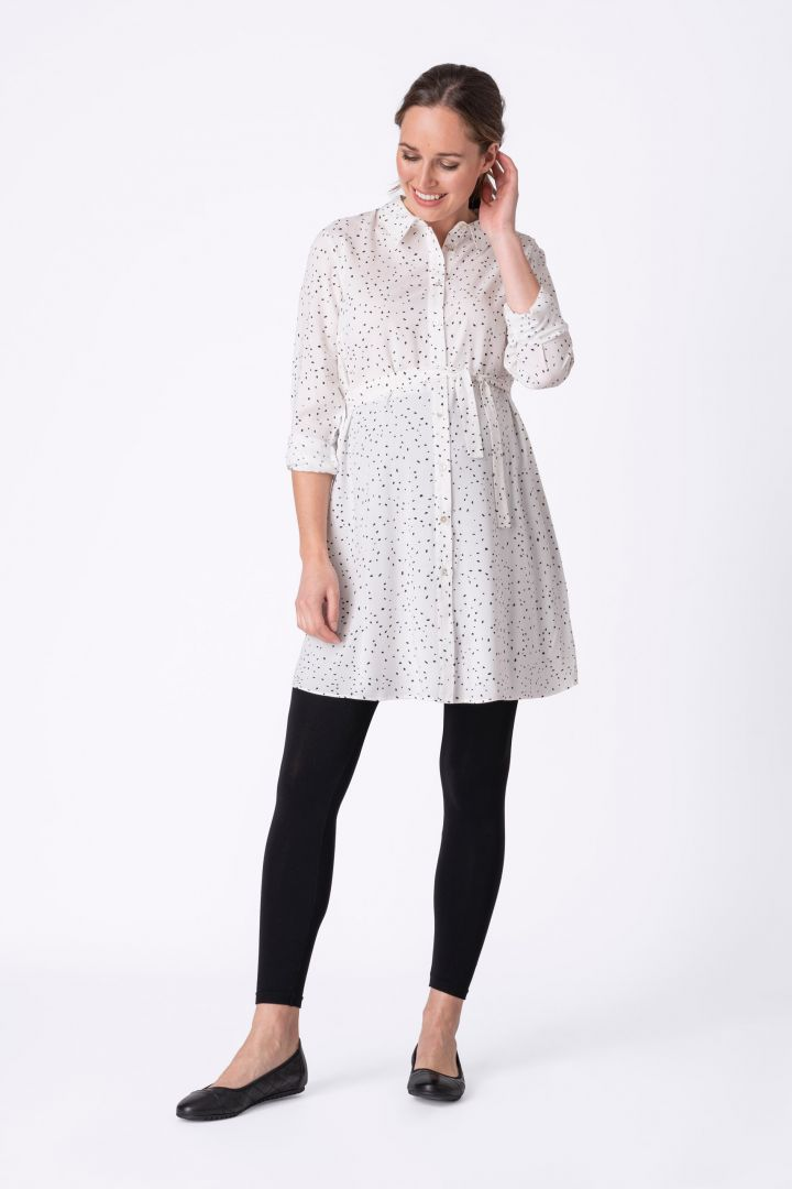 Long Maternity and Nursing Shirt With Splits