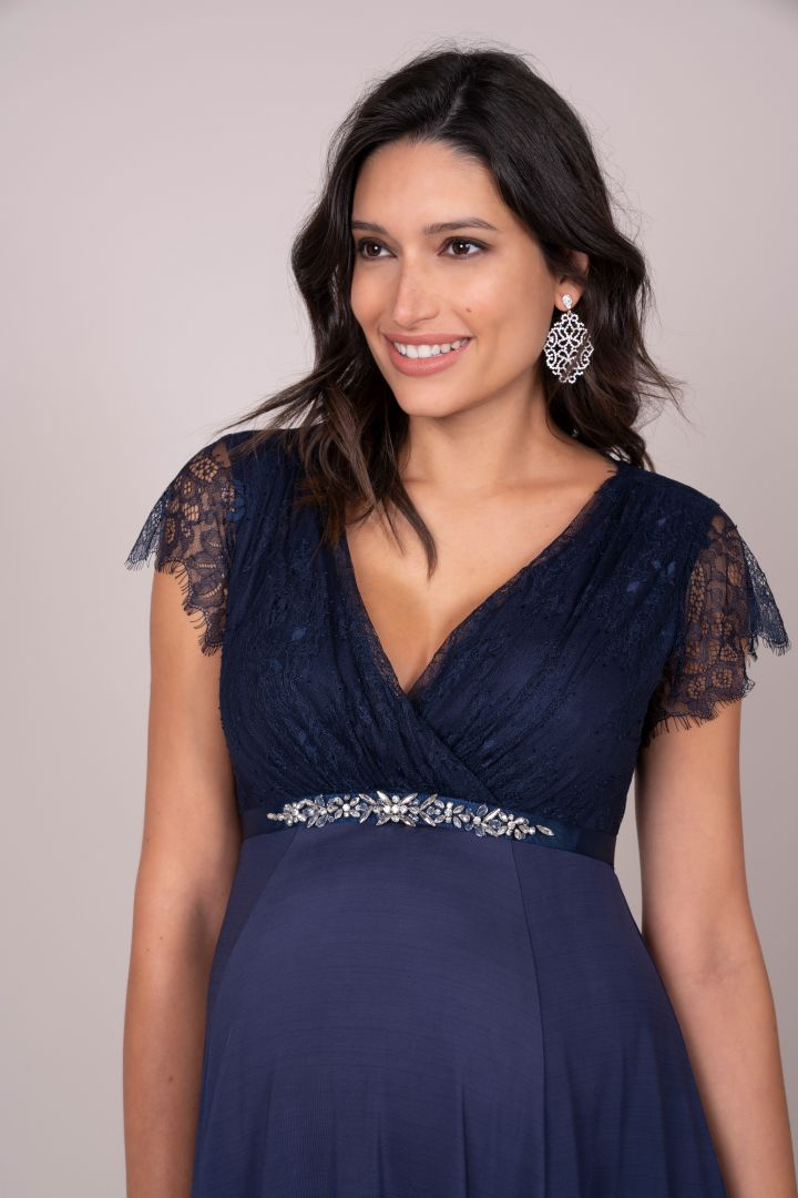 Maternity Dress with Lace Bodice