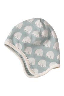 Eisbären Wende Mütze blau aus Bio-Baumwolle