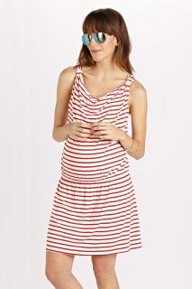 Umstands- und Still-Kleid mit Wasserfallausschnitt