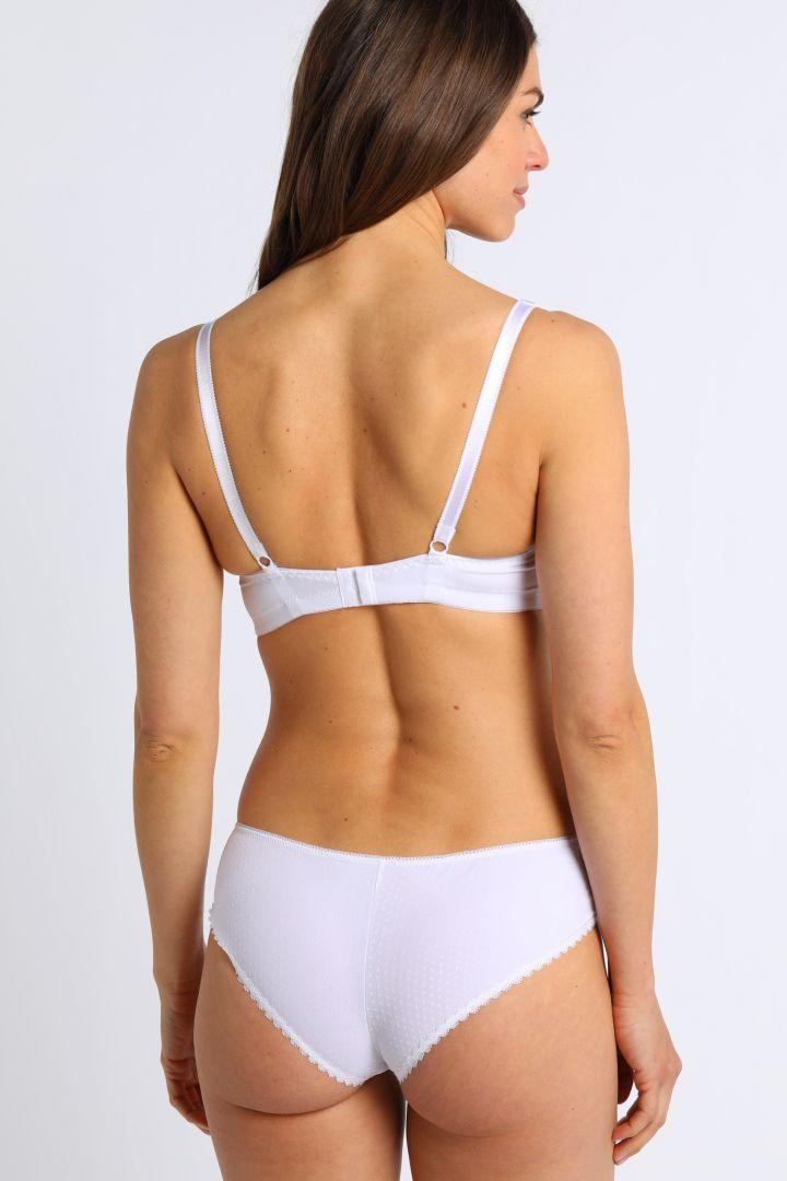 Nursing Bra with Lace Trim white