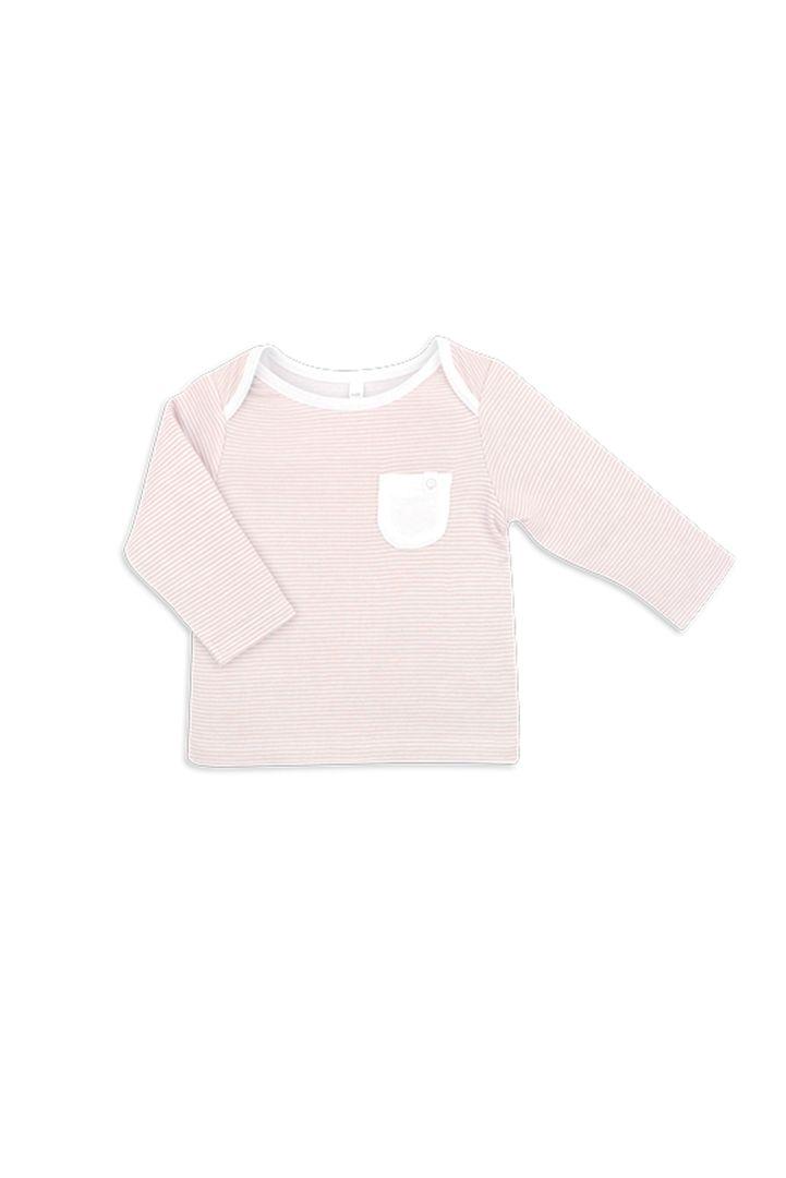 Organic Langarmshirt Streifen rosa