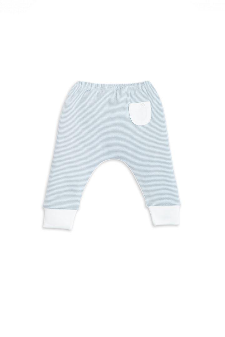 Organic baby sweatpants light blue