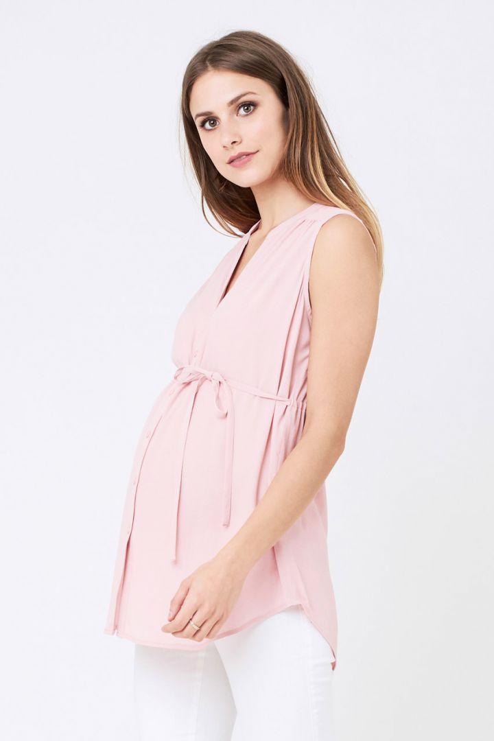 Umstands- und Still-Bluse ärmellos rosa