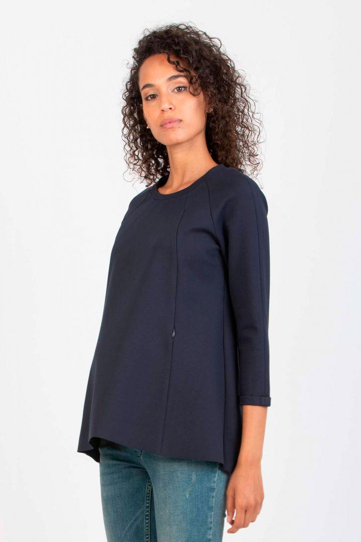Maternity Sweatshirt with Nursing Openings navy