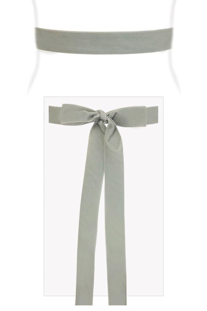 Velvet Ribbon Sash (Pale Aqua)