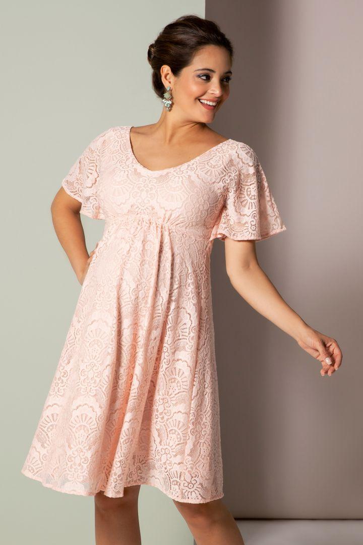 Kimono Maternity Lace Dress rose