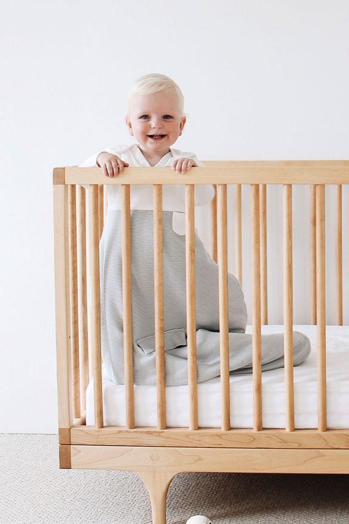 Organic Schlafsack Streifen grau