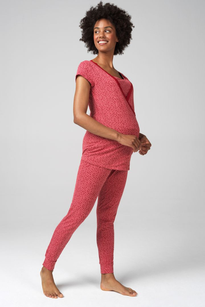 Maternity Lounge Trousers Daisy Print