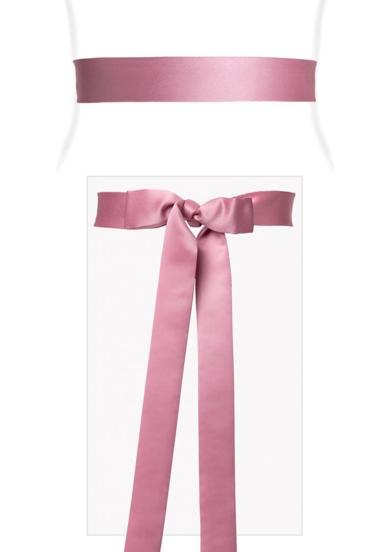 Dusky pink satin sash