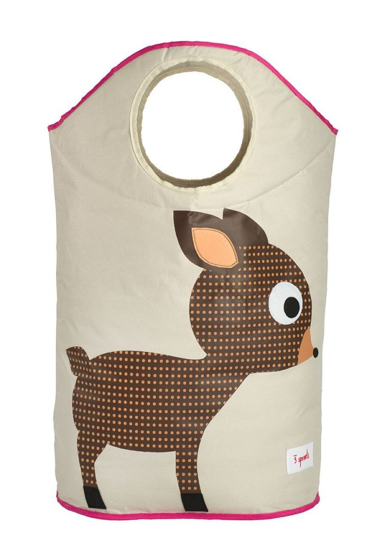 Bambi Wäschekorb braun