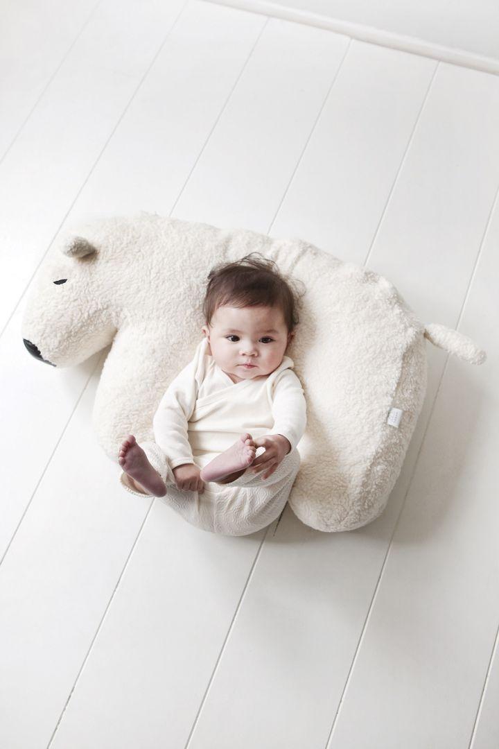 baby and nursing cushion polar bear
