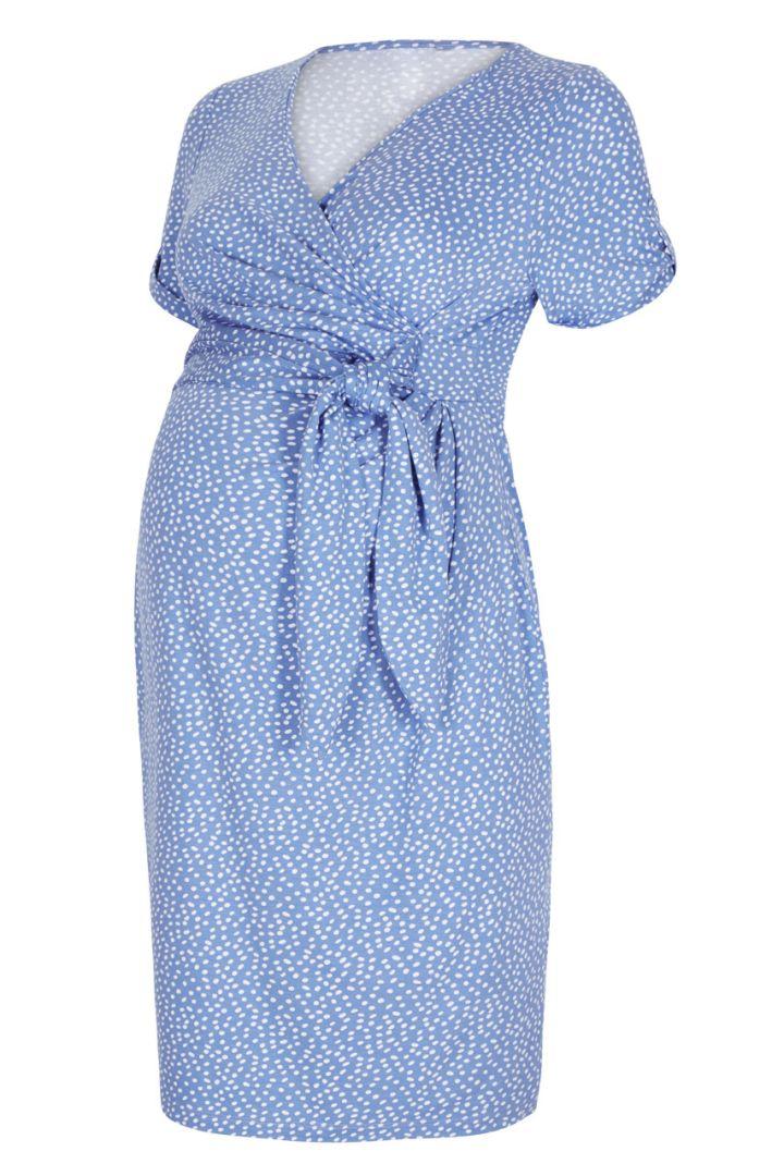 Renata Polka Dot Dress light blue