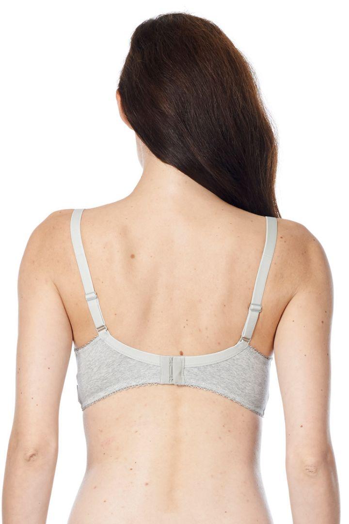 Basic nursing bra with form cups grey