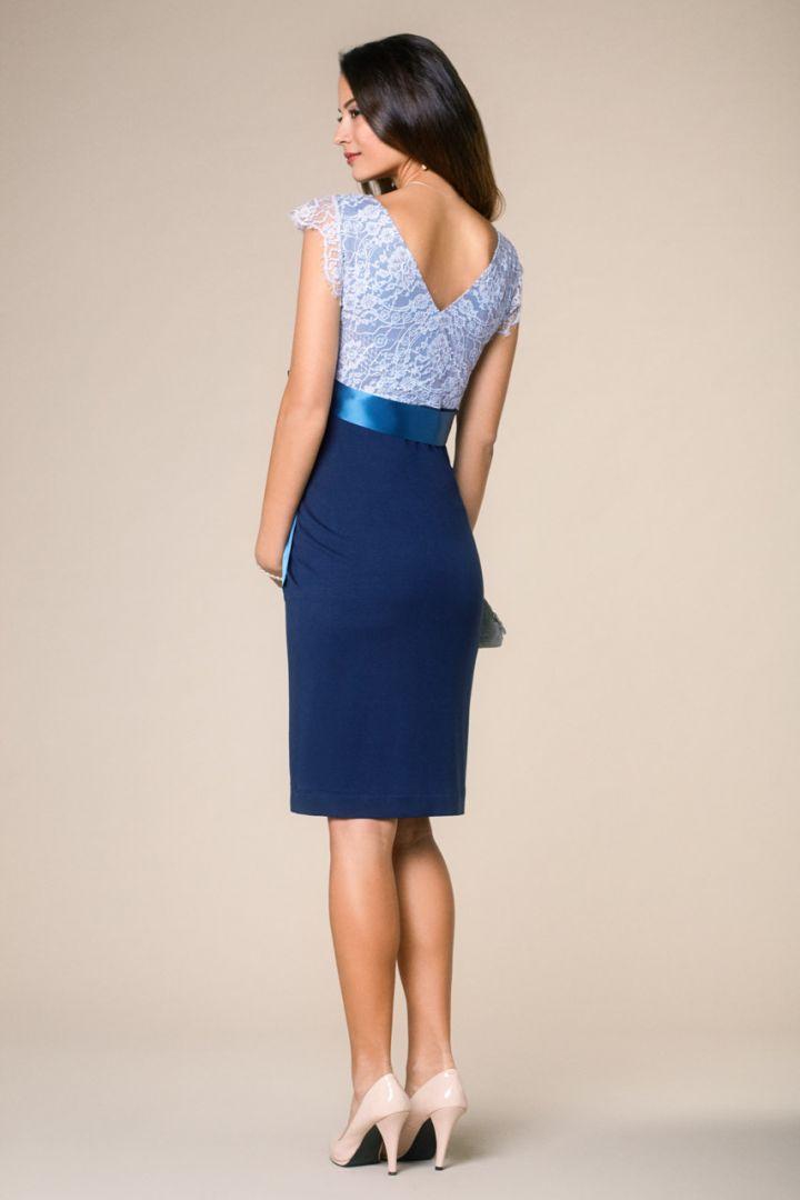 Vintage Rose maternity dress blue