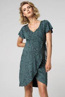 Umstands- und Still-Wickelkleid mit Print