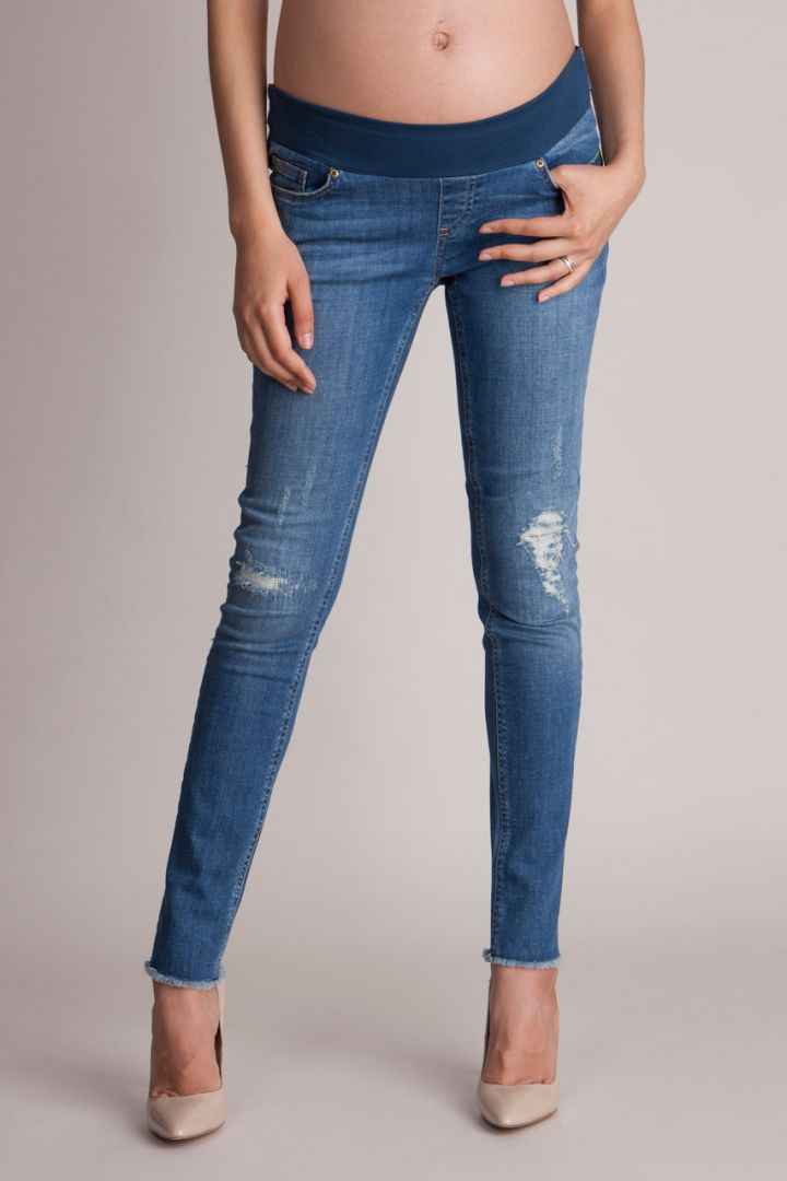 Ripped Umstandsjeans Slim Leg