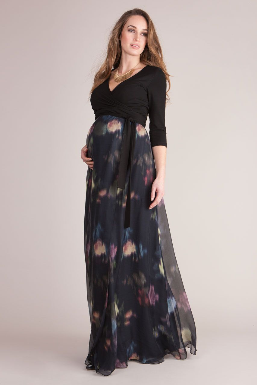 90ecde00bba8e Seraphine Floral Silk Maternity Maxi Dress | Saddha