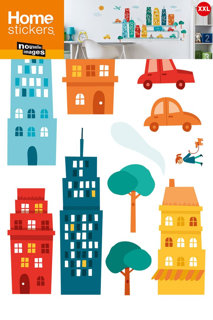 Wall stickers city large