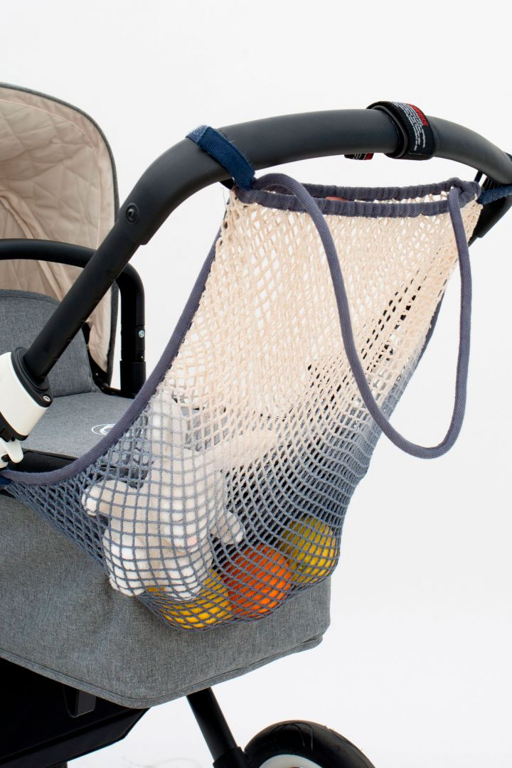 Dip Dye Stroller Net Bag white feather
