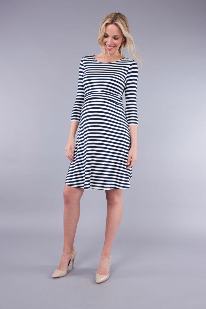Nautical Umstands- und Still-Kleid