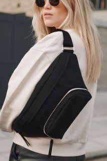 Gürtel Wickeltasche Eco aus recyceltem Nylon schwarz