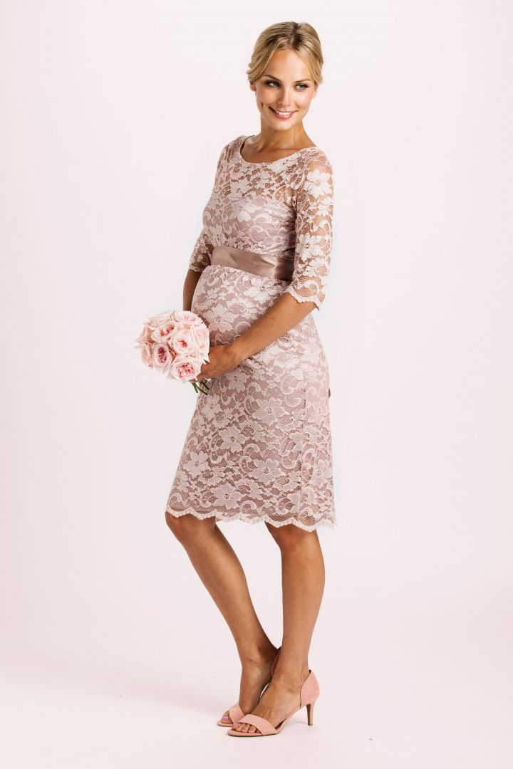Lace Dress with Sash rose