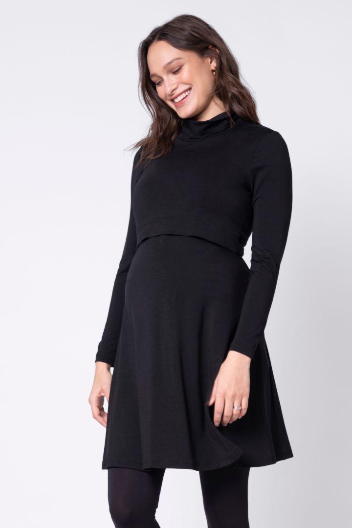 Turtleneck Maternity and Nursing Dress