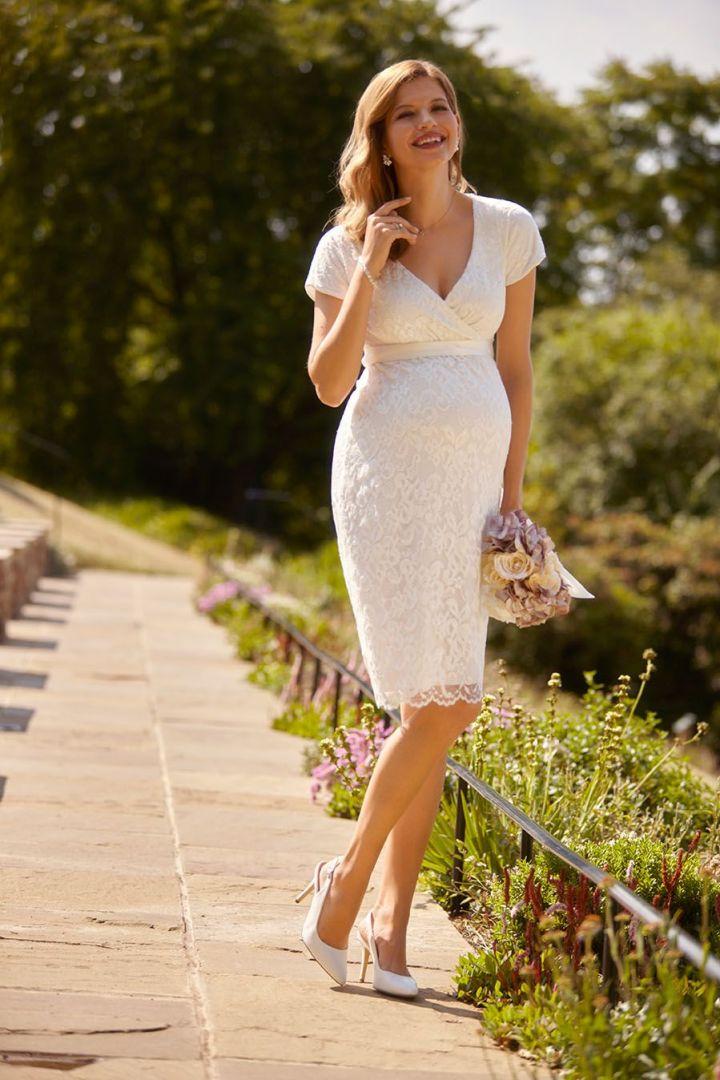 Wedding Dress with Cache-Coeur Neckline