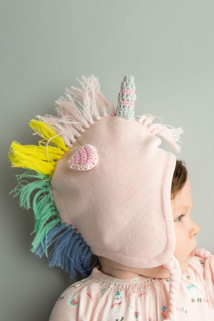 Baby hat unicorn pink