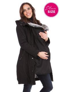 Plus Size Premium Umstandsparka mit Babyeinsatz