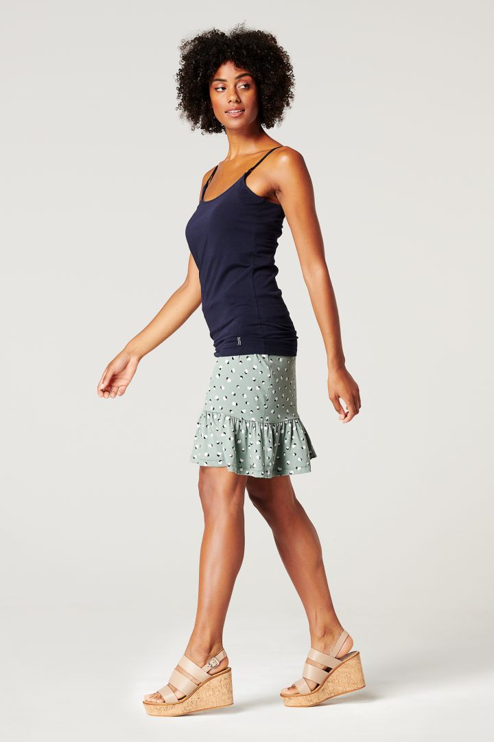 Ecovero Maternity Skirt with Print mint