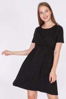 Umstands- und Still-Wickelkleid schwarz