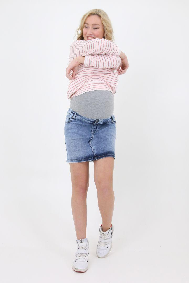 Mini Maternity Jeansskirt