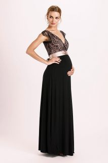 Vintage Rose Kleid lang