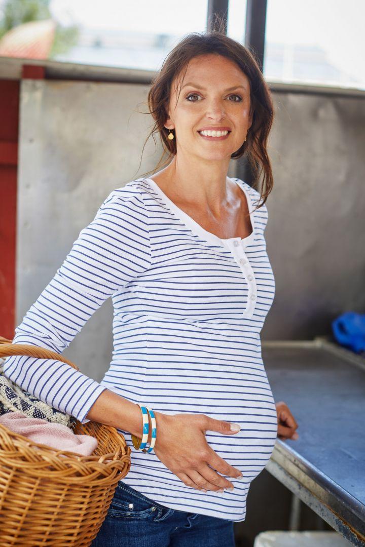 Umstands- und Stillshirt aus Bio-Baumwolle Stripes