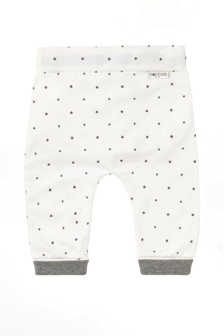 Organic Babyhose mit Sternchen weiß