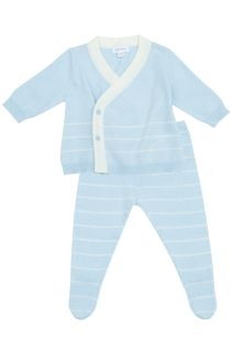 Take me home Strick Set blau