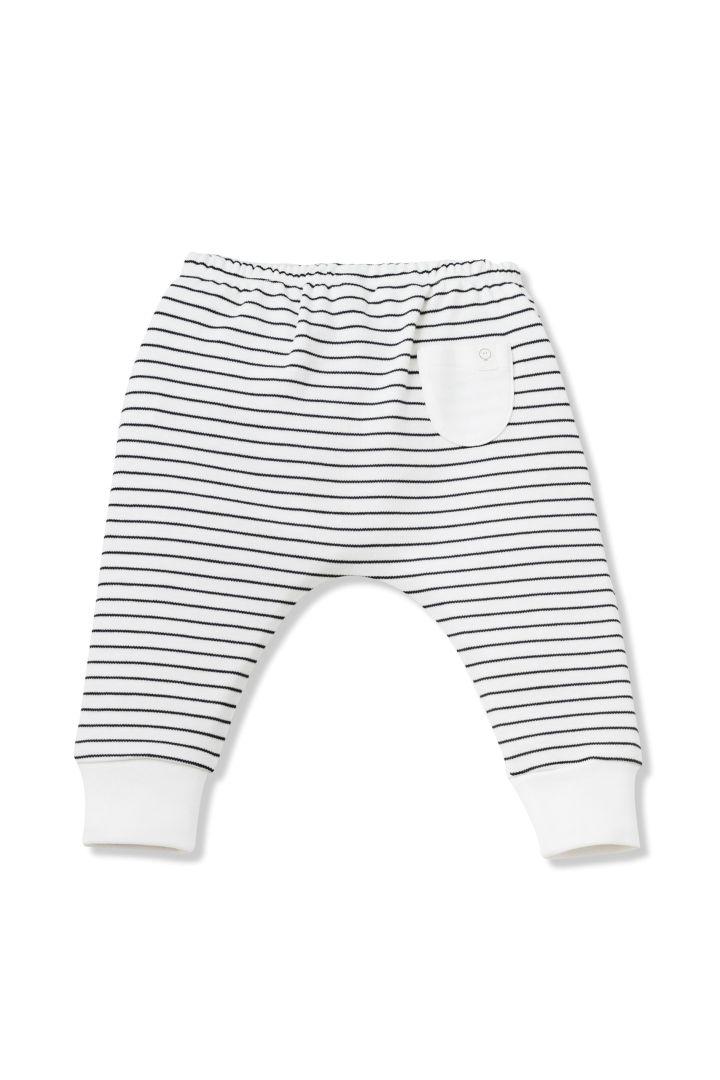 Organic Baby Sweathose Streifen grau