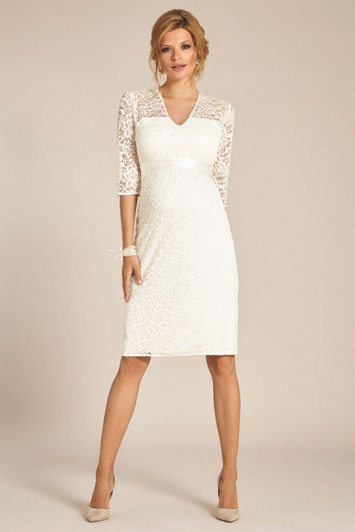 Maternity lace wedding dress