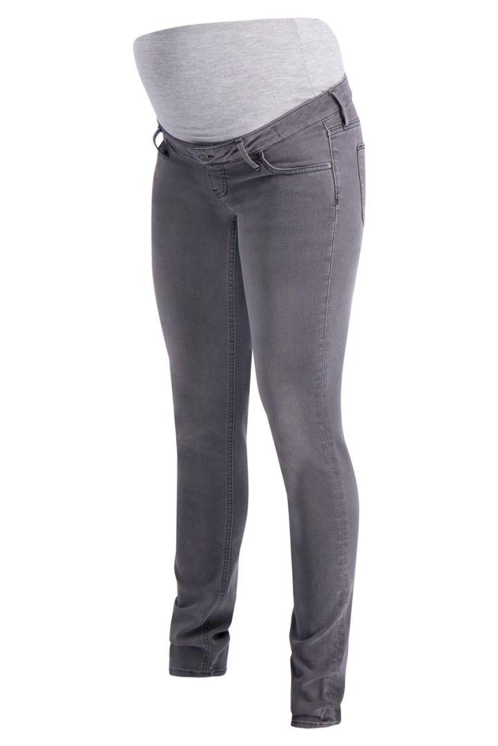 Umstandsjeans straight leg grau