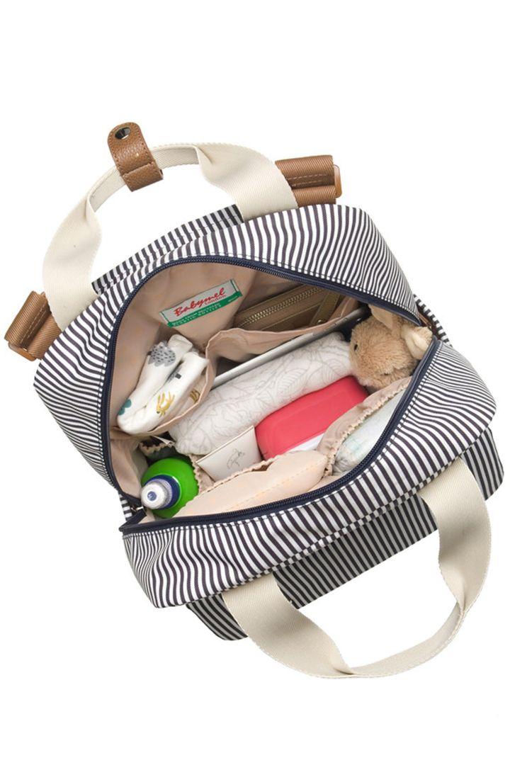 Georgi Eco Wickelrucksack aus recyceltem Plastik gestreift