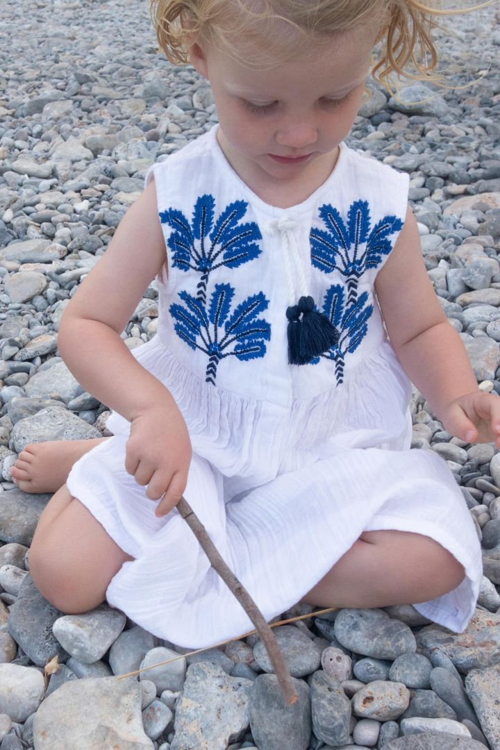 Mini Me Dress with Embroidery