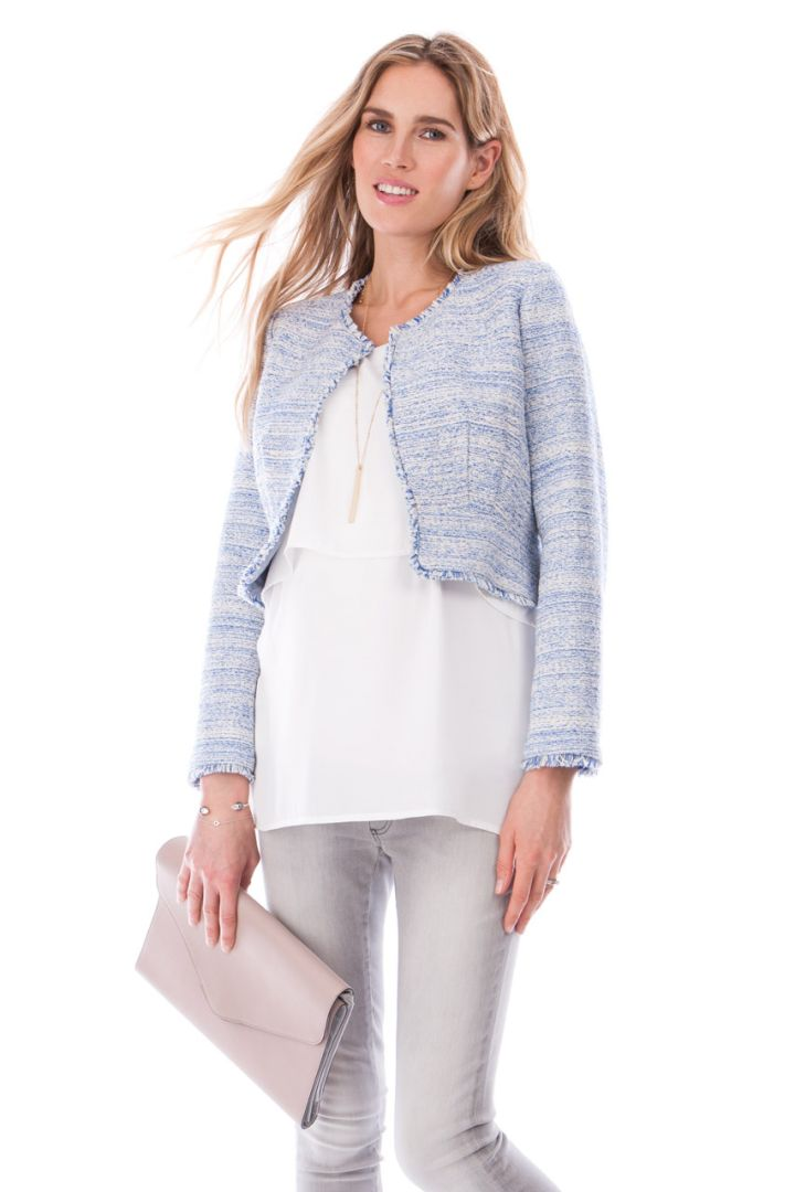 Tweed Umstandsjacke