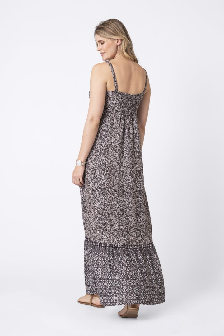 Printed Boho Maternity Dress