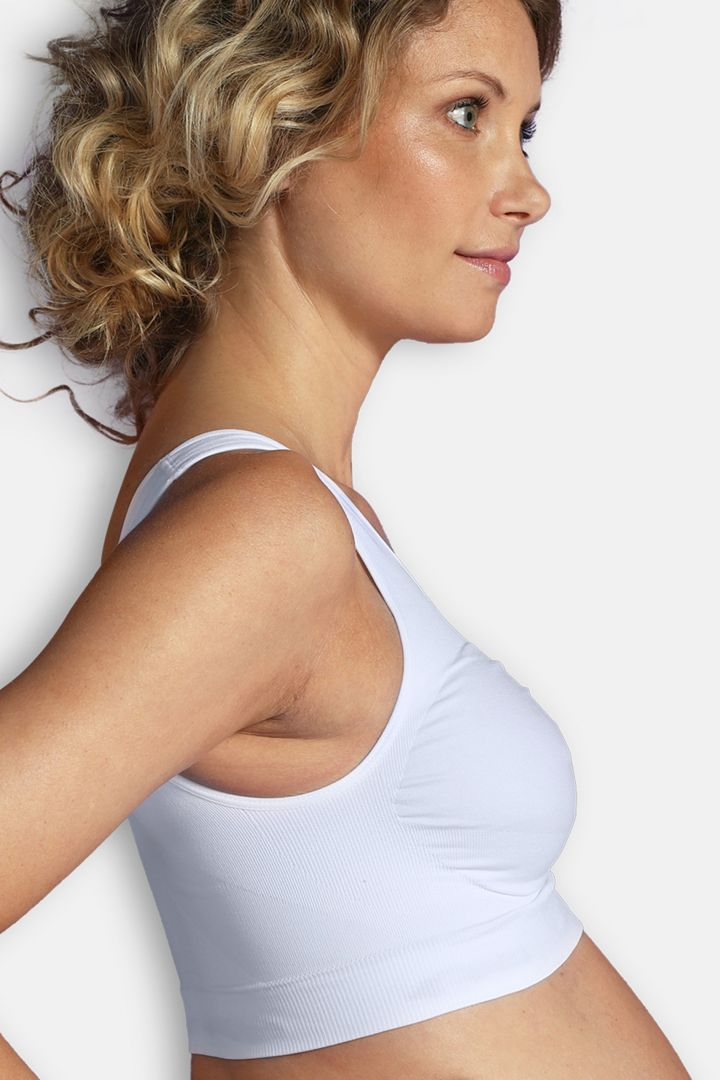 Seamless Pregnancy Bra with Soft Cups white
