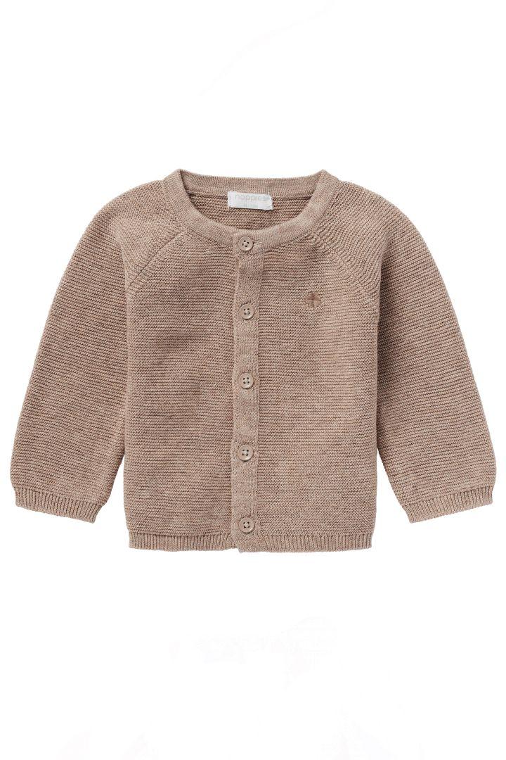 Organic Baby Knit Cardigan taupe