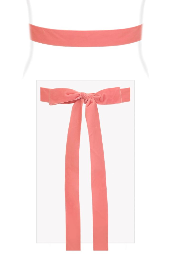 Velvet Ribbon Sash (Candy Pink)